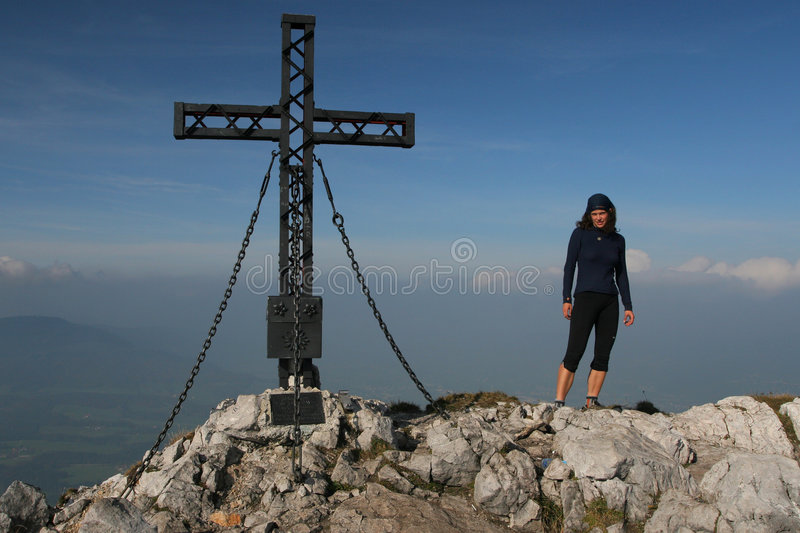 Download Young Woman At The Mountain Top Stock Photo - Image: 7128530