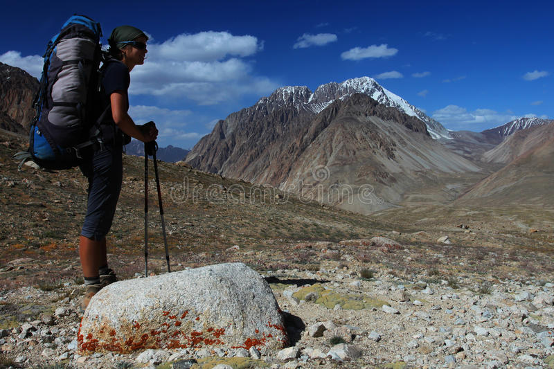 Download Young Woman In The Mountains Stock Photo - Image: 16479498