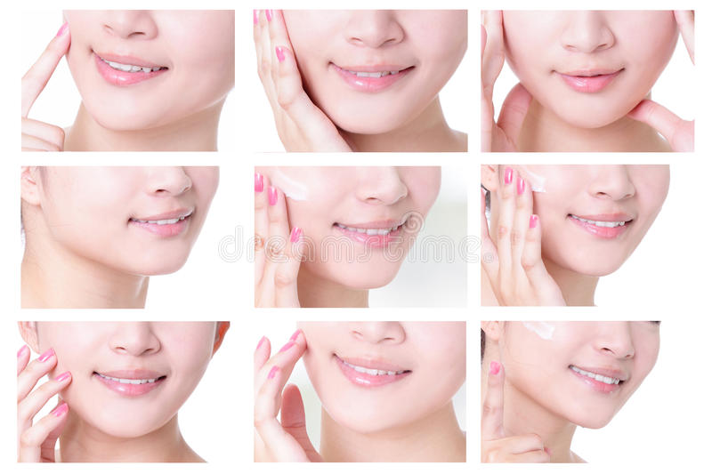 Young woman mouth royalty free stock photography
