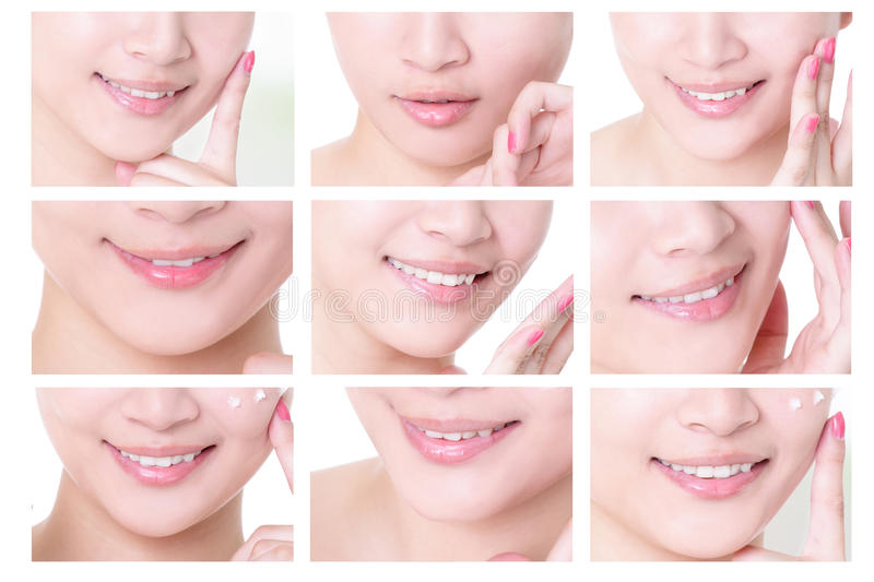 Young woman mouth stock image
