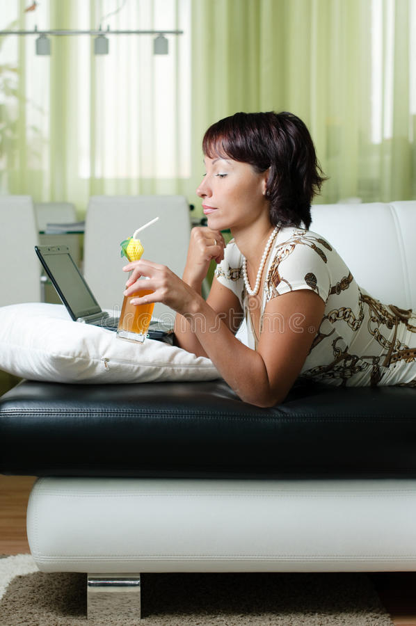 Download A Young Woman With A Notebook Stock Photo - Image: 11050734