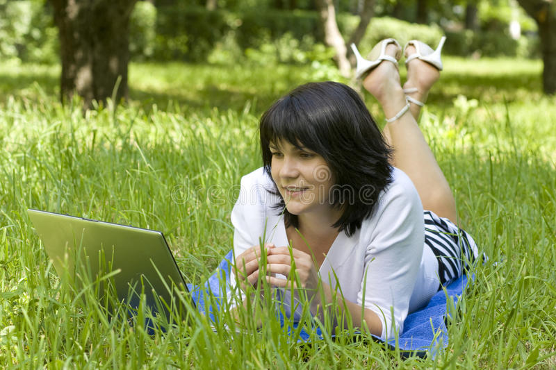 Young Woman With Notebook Royalty Free Stock Photography