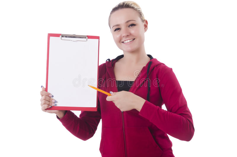 Download Young woman with notepad stock image. Image of happy - 34468779