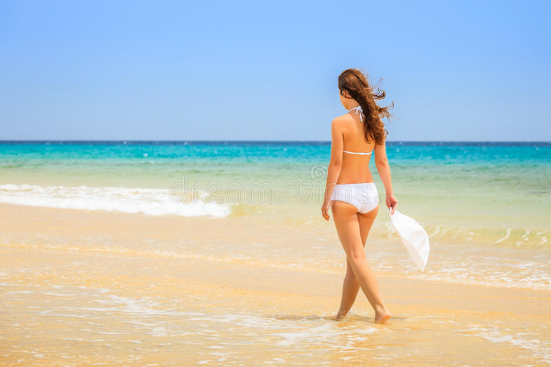 Download Young Woman On Ocean Beach Stock Photo - Image: 38903356