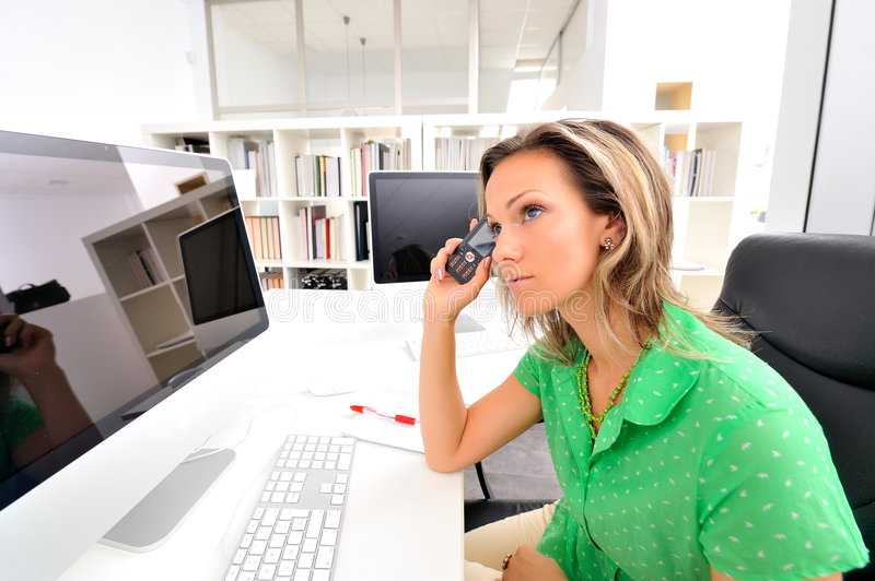 Download Young Woman At The Office Stock Photography - Image: 7231162