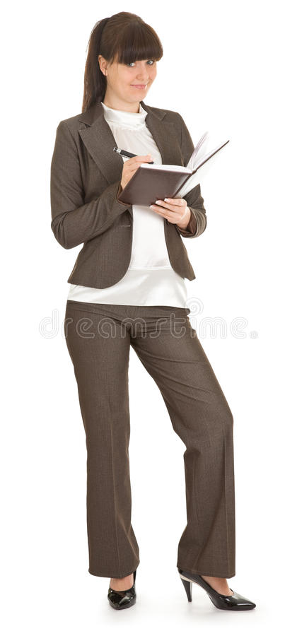 Young woman in office attire.