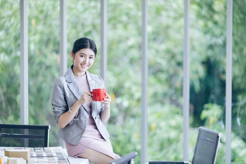 Young woman office worker,people business and entrepreneurship concept royalty free stock image