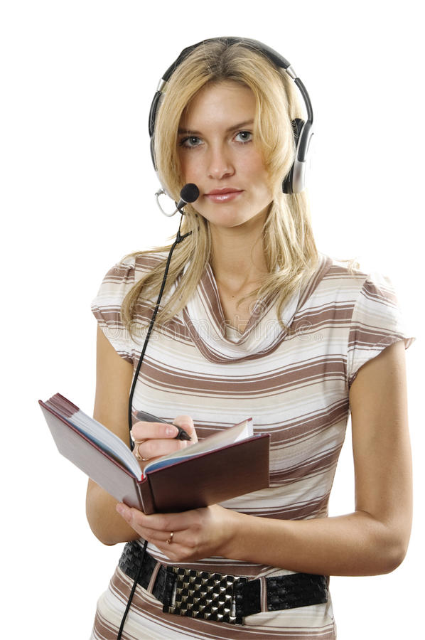 Download The Young Woman The Operator Stock Image - Image: 12591889