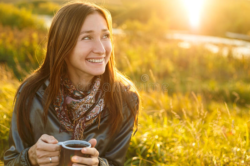 Young woman outdoor royalty free stock images