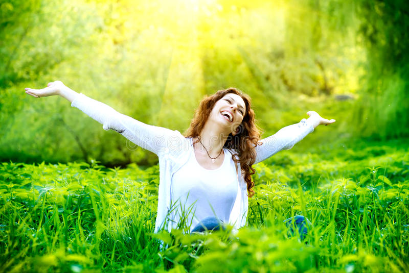 Young Woman Outdoor royalty free stock image