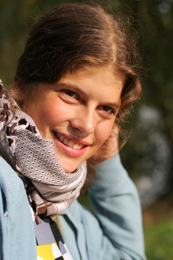 Download Young Woman Outdoor Portrait Stock Image - Image: 7166997