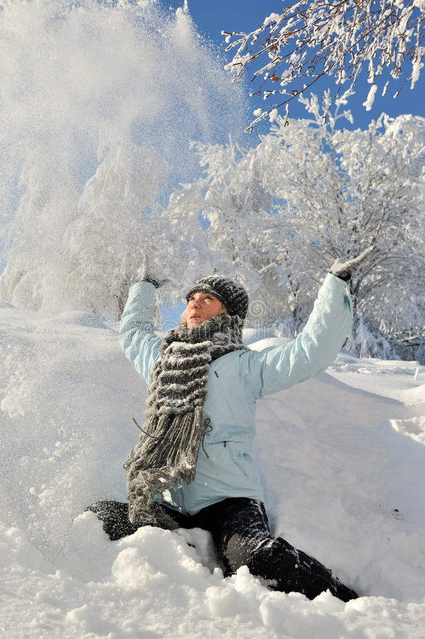 Download Young Woman Outdoor In Winter Stock Image - Image of smiling, recreation: 12551573
