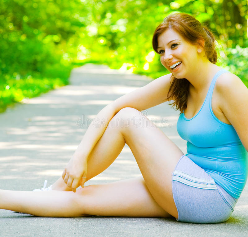 Young Woman Outdoor Workout stock image
