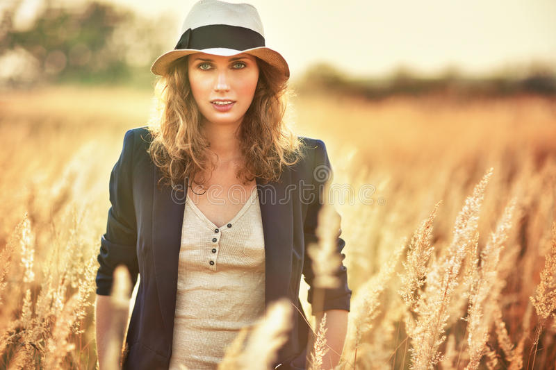 Young woman outdoors portrait stock images
