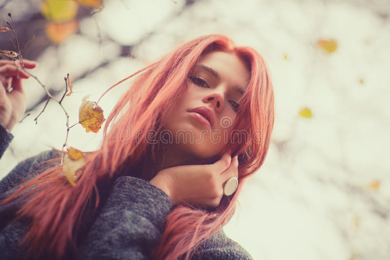 Young woman outdoors portrait stock photos
