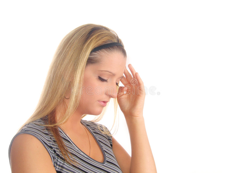 Young Woman Pain stock photography