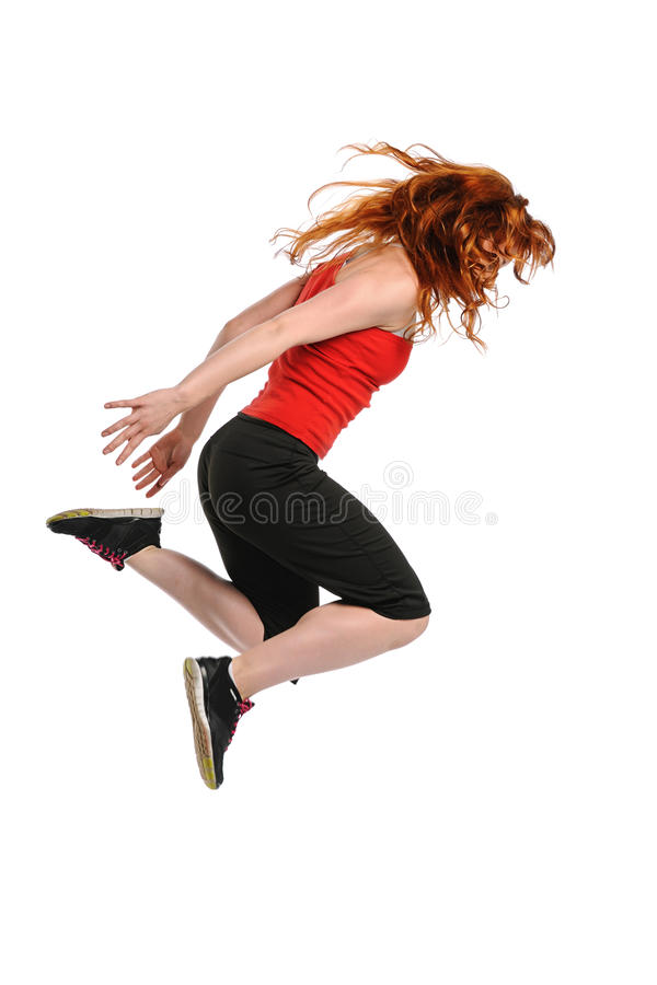 Young woman performing a hiphop dance royalty free stock photos