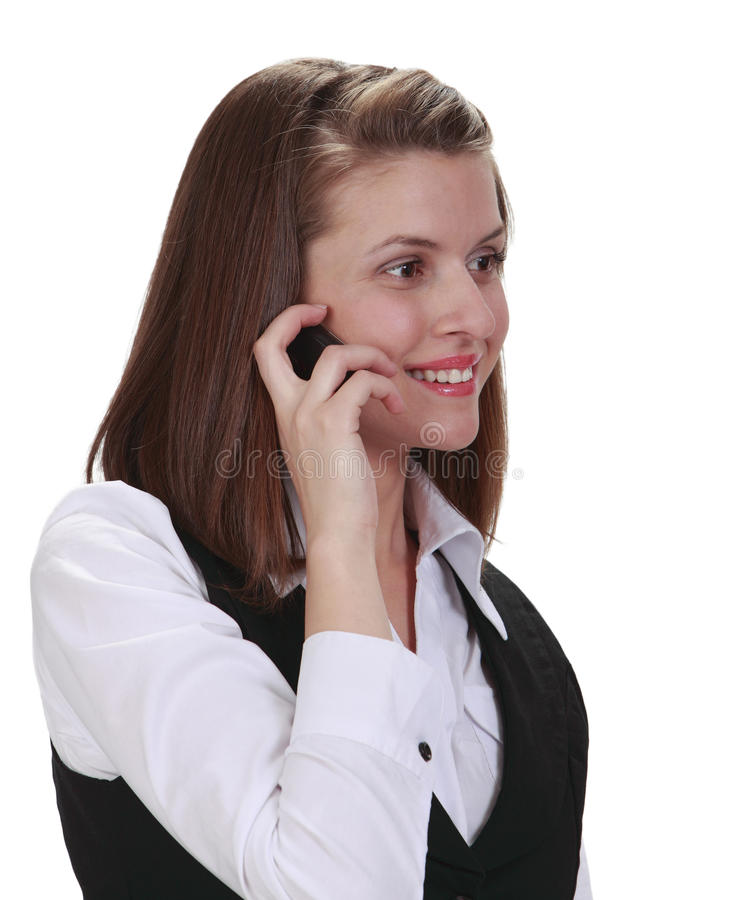 Download Young Woman On The Phone Stock Photo - Image: 14346100
