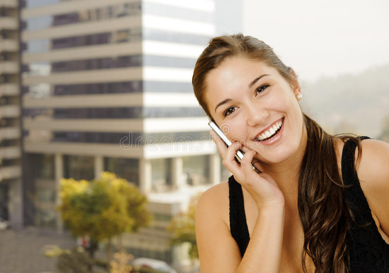 Download Young woman on the phone stock image. Image of female - 24641965