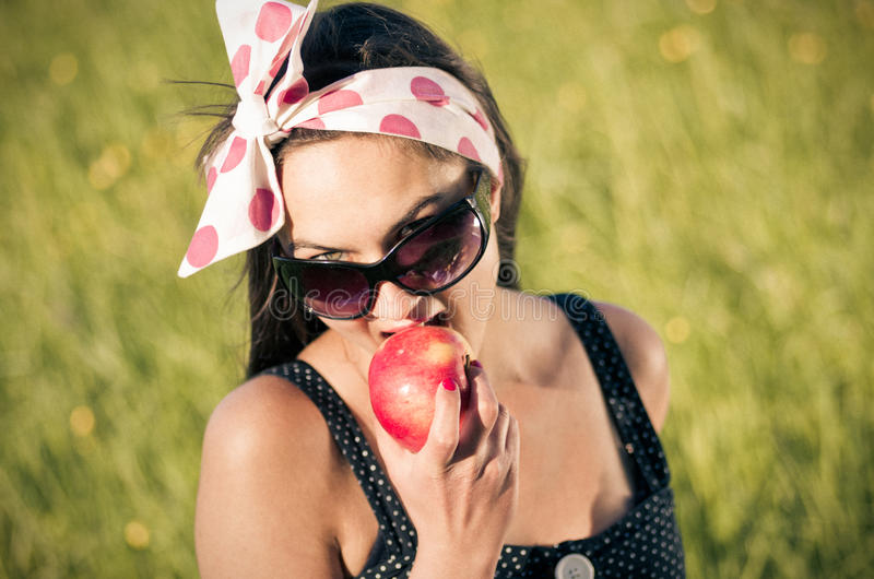 Download Young Woman During The Picnic Stock Image - Image: 25579957