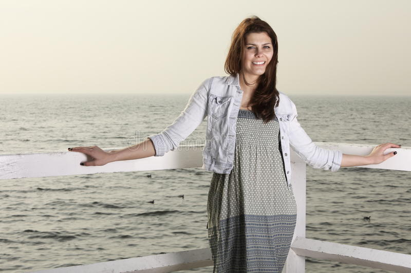 Download Young Woman On The Pier Royalty Free Stock Image - Image: 31946116