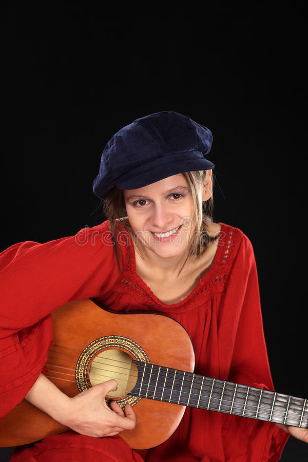 Download Young Woman Playing The Guitar Stock Photo - Image: 21206616
