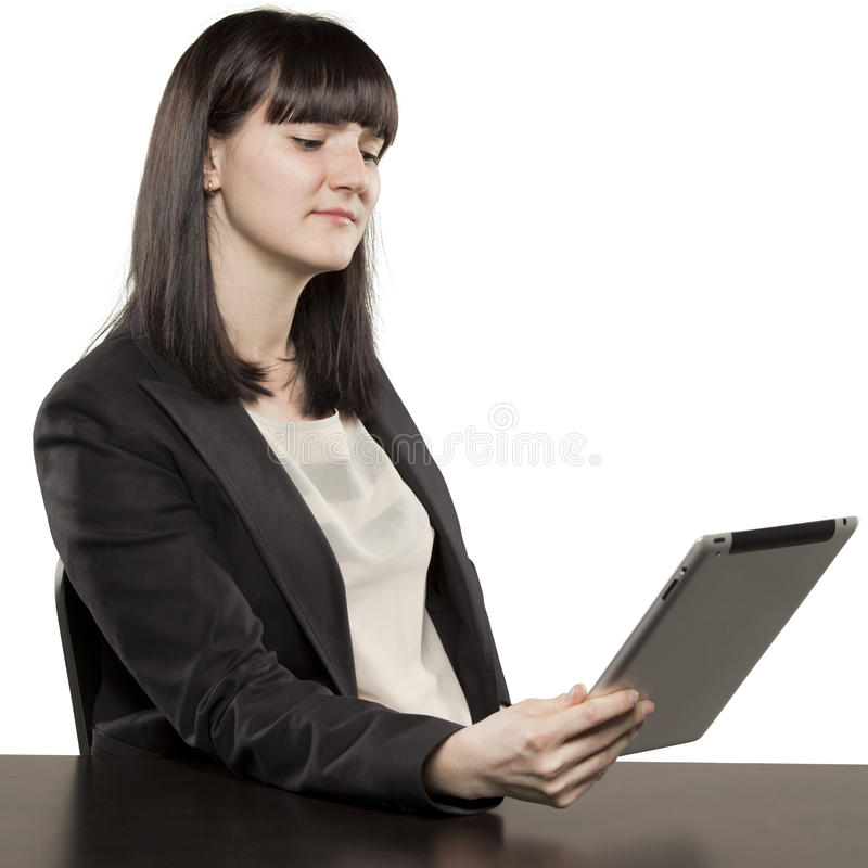 Download Young Woman Playing On Ipad Stock Image - Image of businesswoman, attractive: 31718163