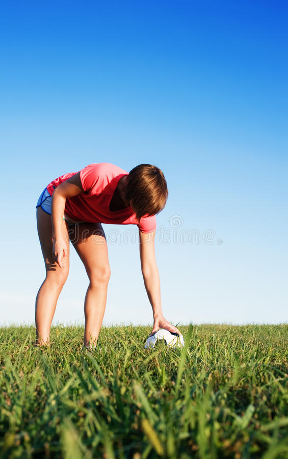 Download Young Woman Playing Soccer stock image. Image of nature - 11183631