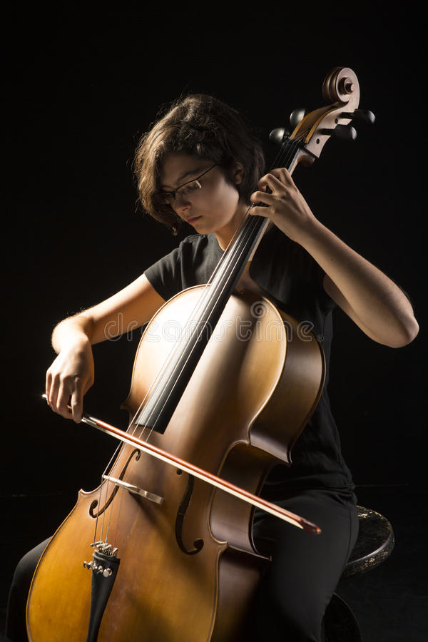Download Young Woman Plays Cello Royalty Free Stock Image - Image: 33608196