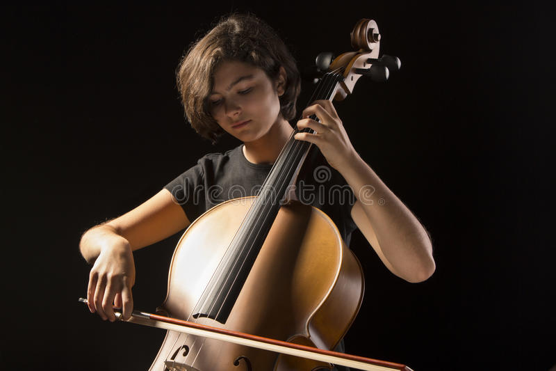 Download Young Woman Plays Cello Stock Image - Image: 33608041