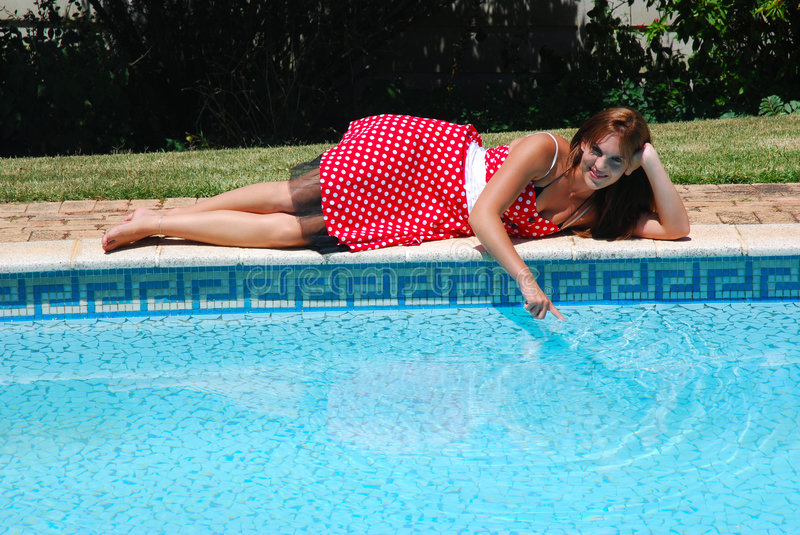Download Young Woman At Poolside Stock Images - Image: 4619294