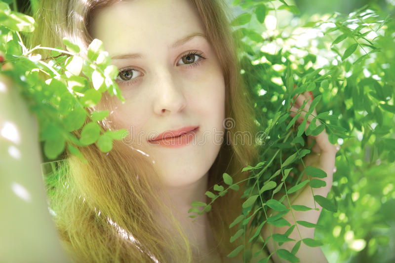 Download Young woman portrait stock image. Image of outdoors, model - 11317973