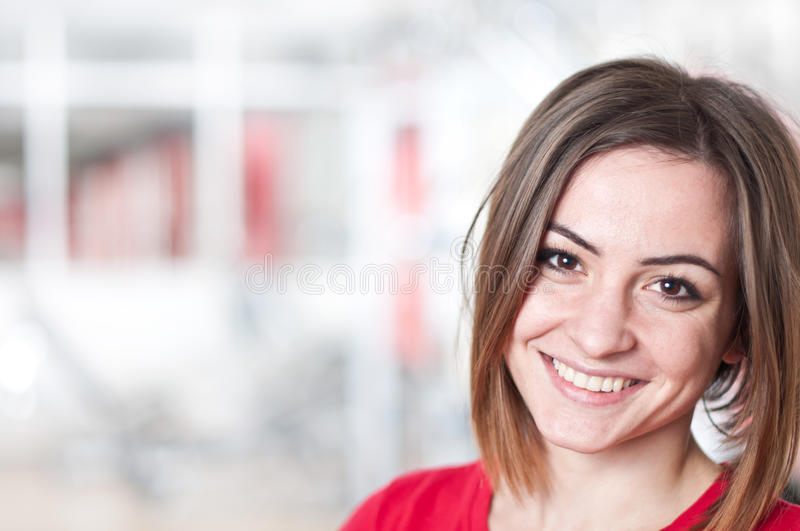 Young woman, portrait. And blured background stock images