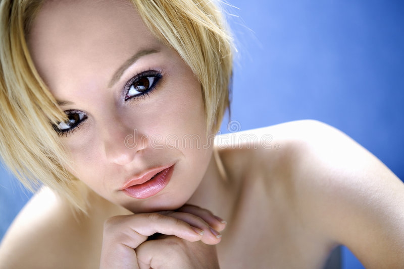 Young woman portrait. royalty free stock images
