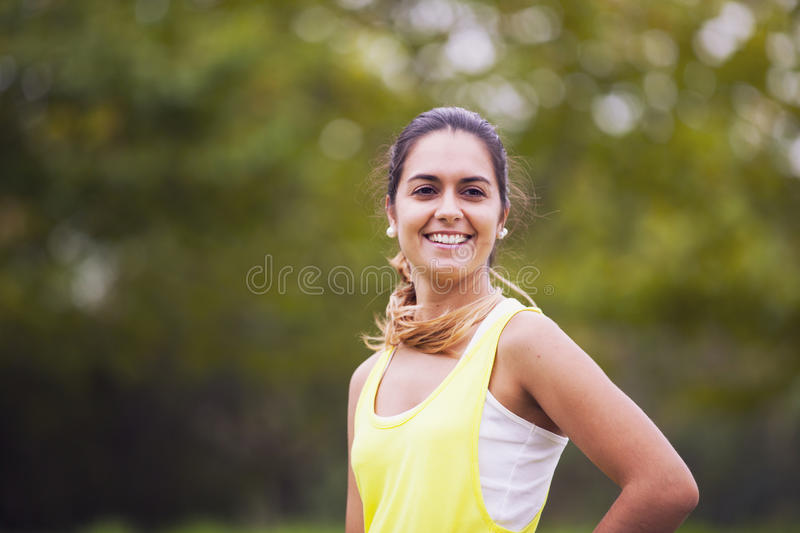 Young woman portrait stock images