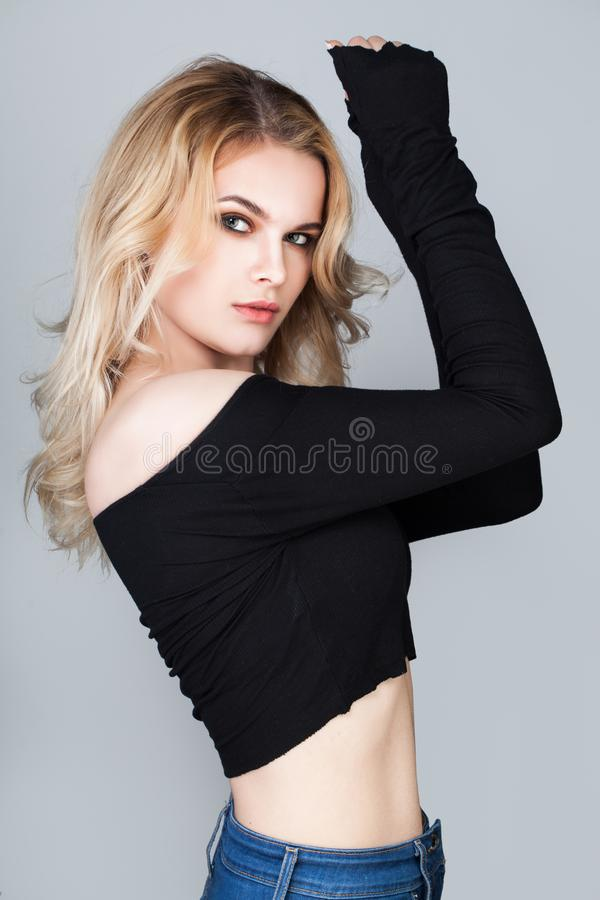 Young Woman Portrait. Female Model Woman royalty free stock image