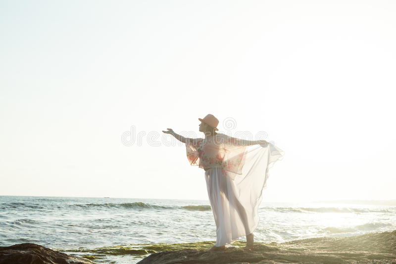 Young woman posing royalty free stock photography