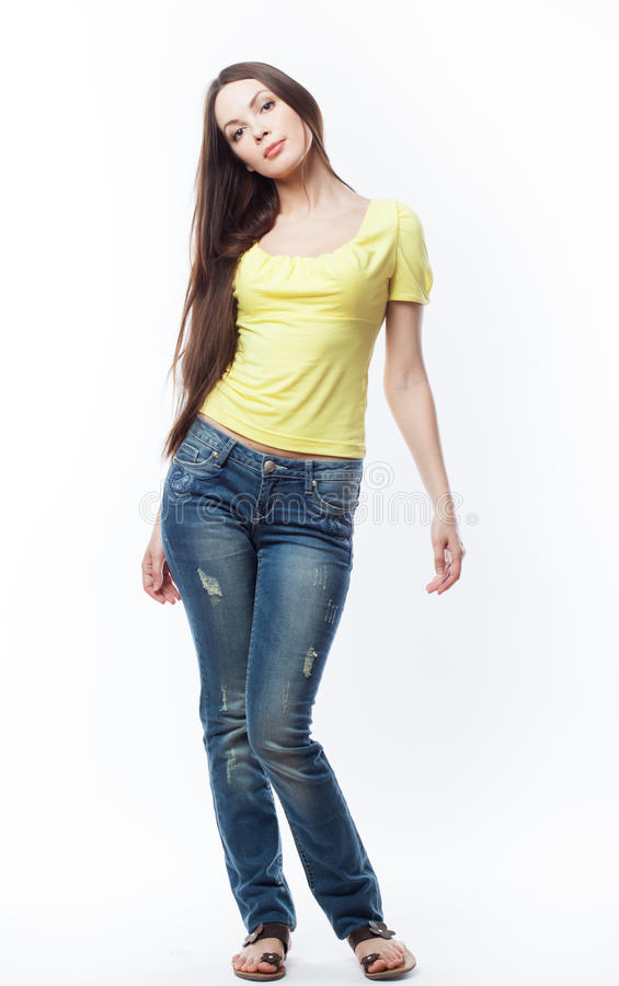 Young woman is posing stock photo