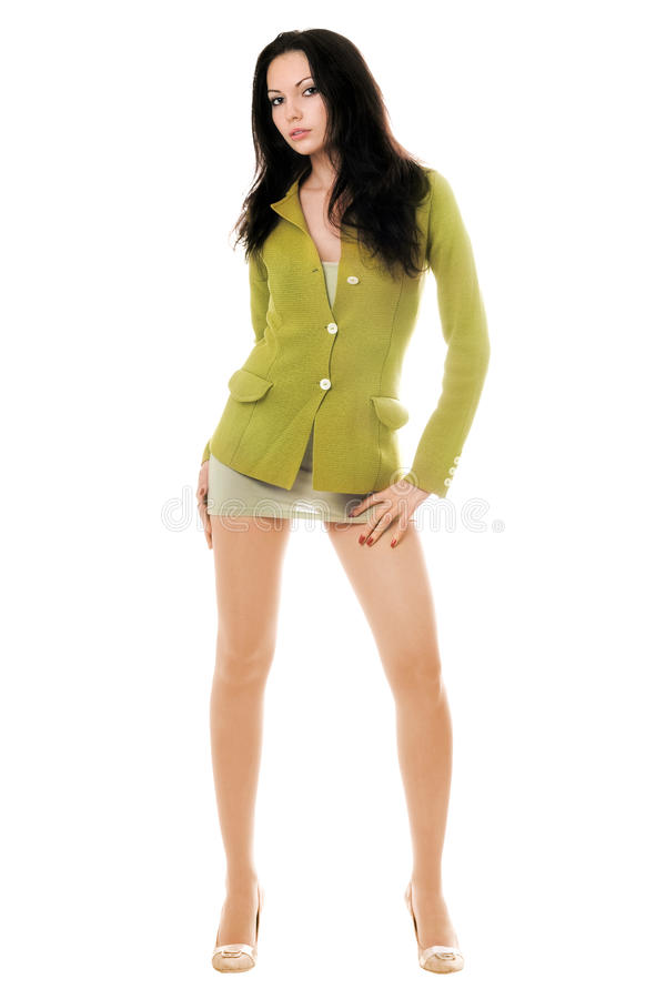 Young Woman Posing In Jacket Royalty Free Stock Photo