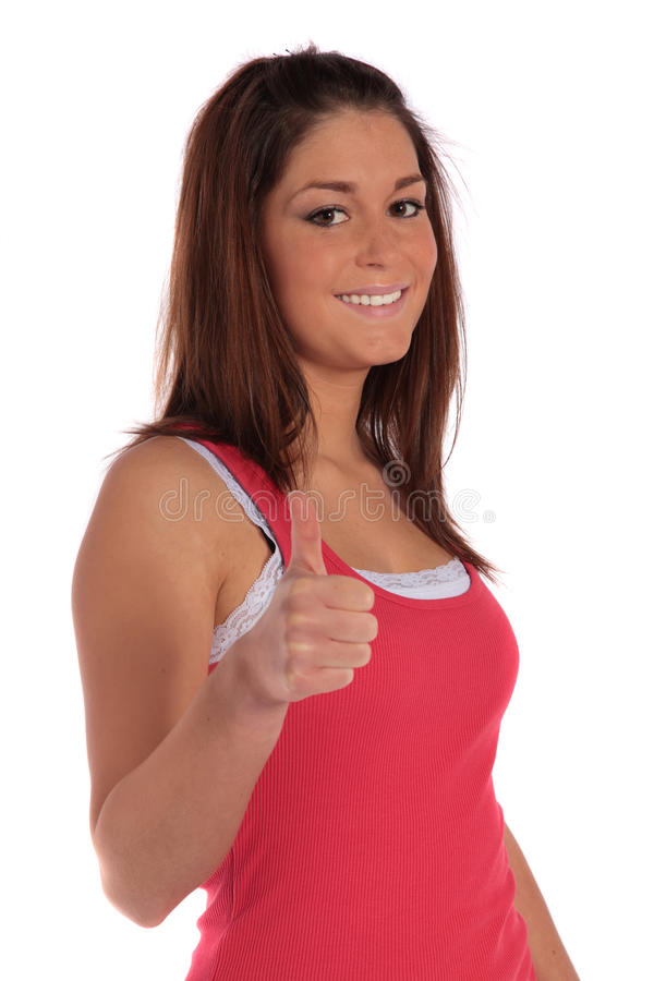 Download Young Woman With Positive Gesture Stock Image - Image: 13013643