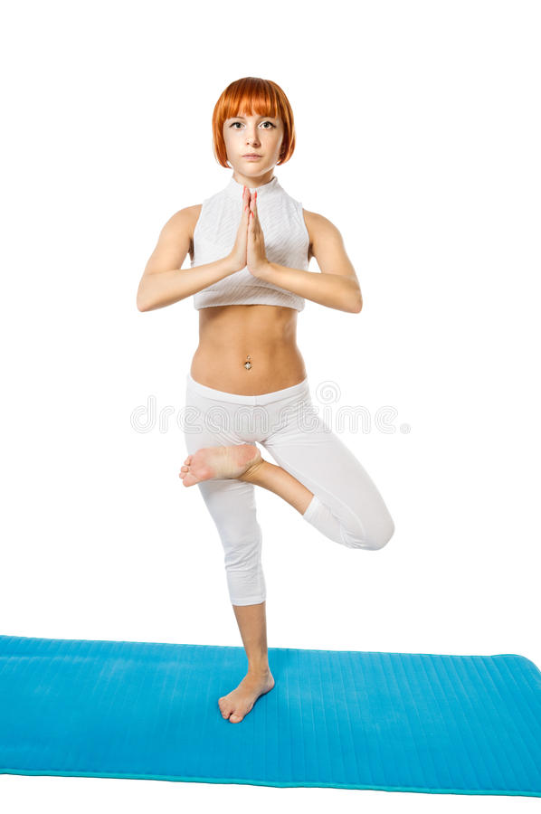 Download Young Woman Practicing Yoga Asana Stock Images - Image: 24558804