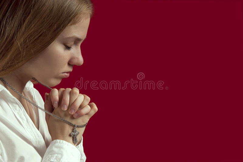 Download Young woman praying stock photo. Image of prayer, loneliness - 18314288