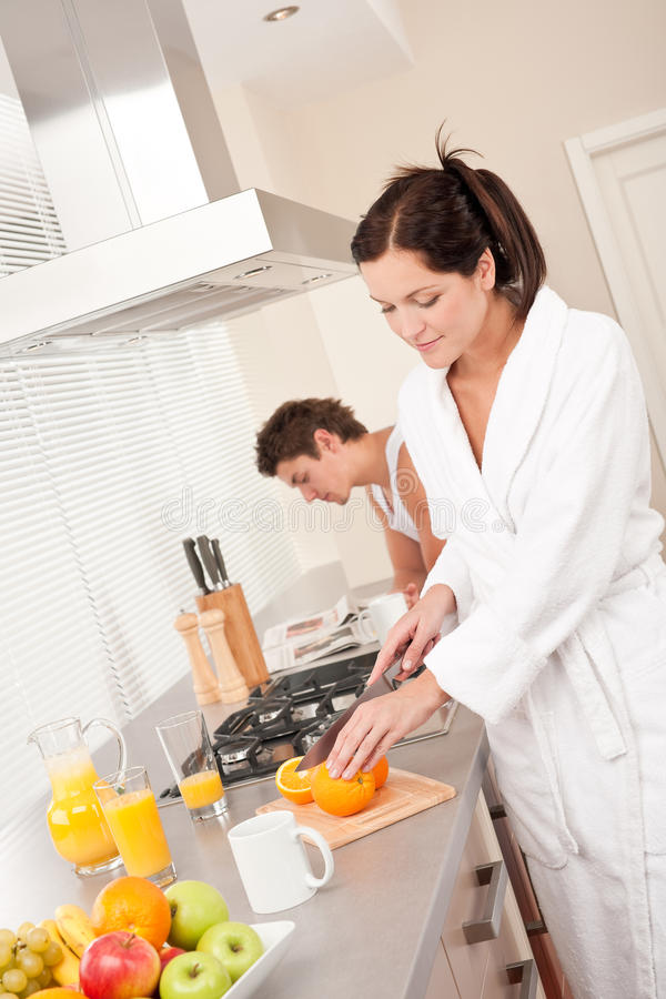 Download Young Woman Preparing Breakfast In The Kitchen Royalty Free Stock Photography - Image: 11675927