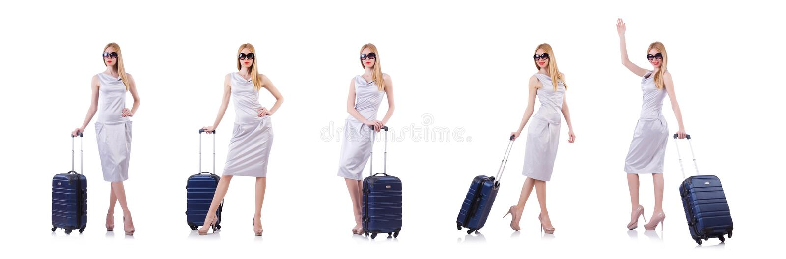 Young woman preparing for vacation royalty free stock images