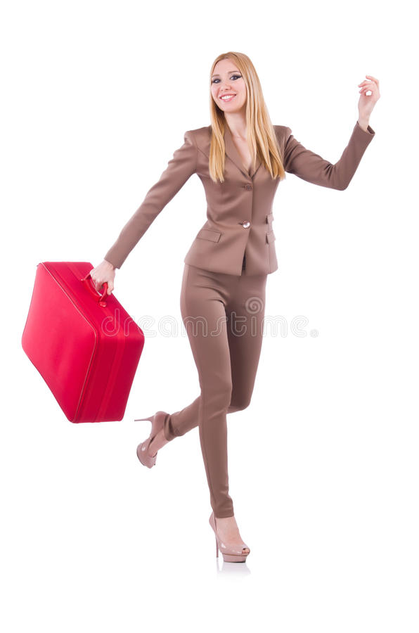 Download Young woman preparing stock photo. Image of suitcase - 31457932