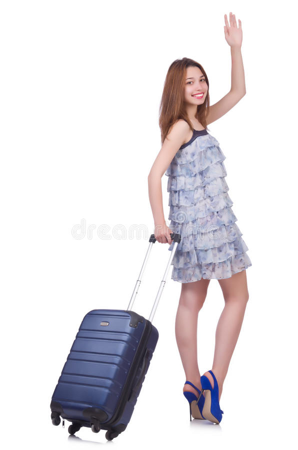 Download Young woman stock image. Image of luggage, beautiful - 32587033