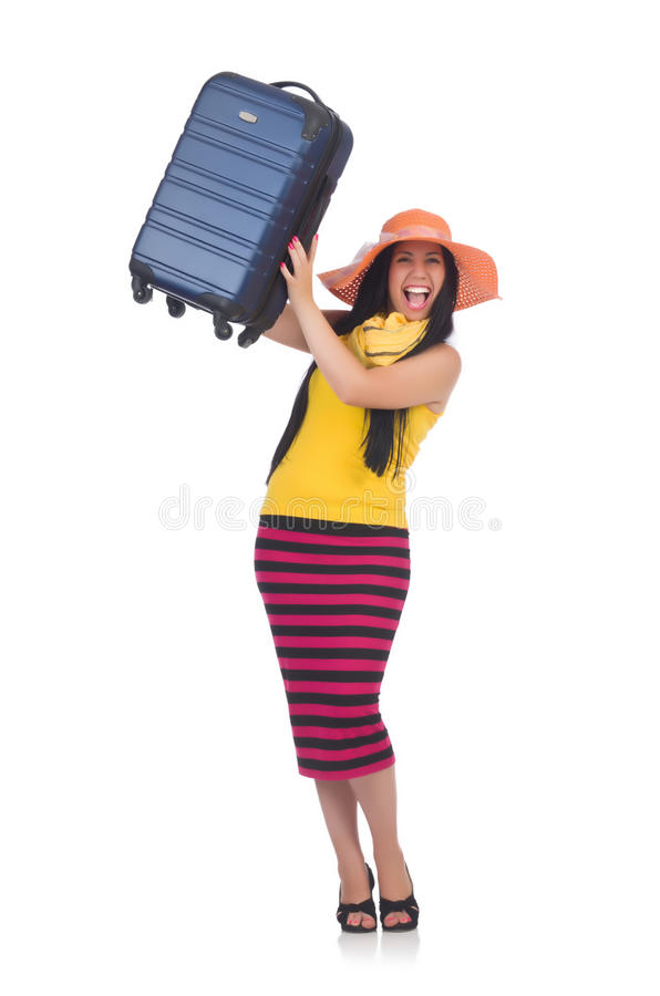 Download Young woman stock image. Image of caucasian, packing - 32587079