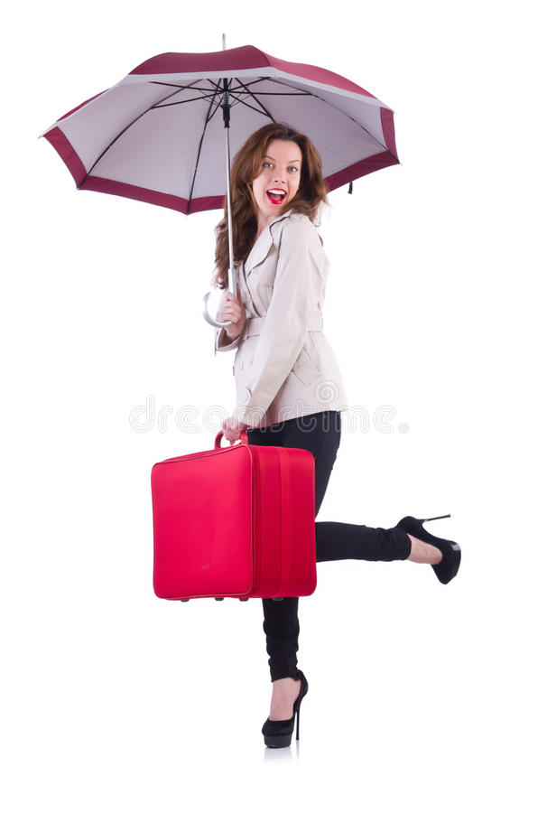 Download Young woman stock image. Image of luggage, autumn, beauty - 32810979