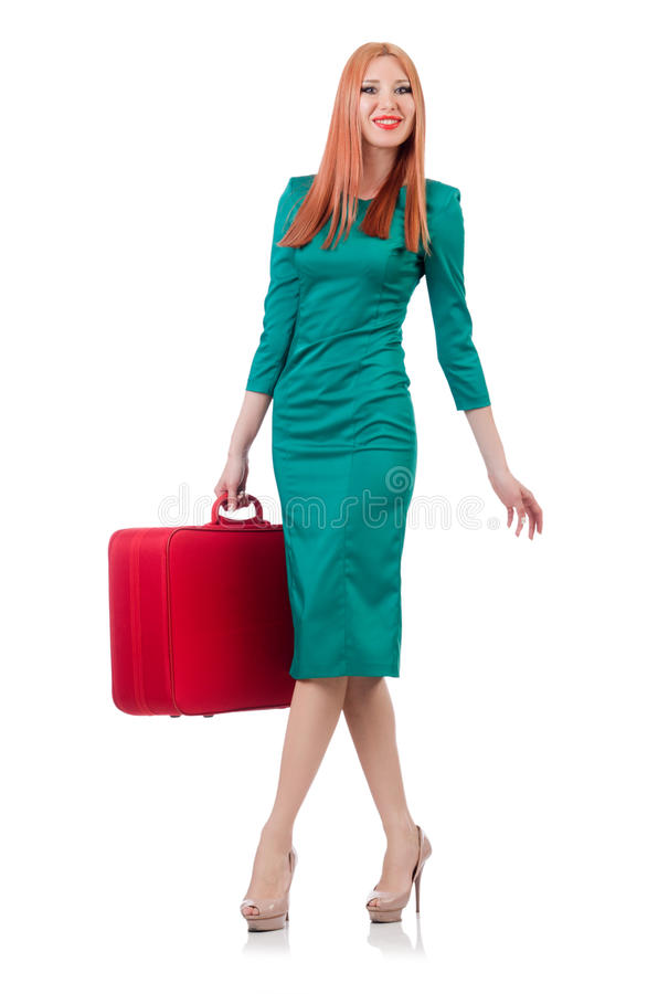 Download Young woman stock image. Image of baggage, background - 32812675