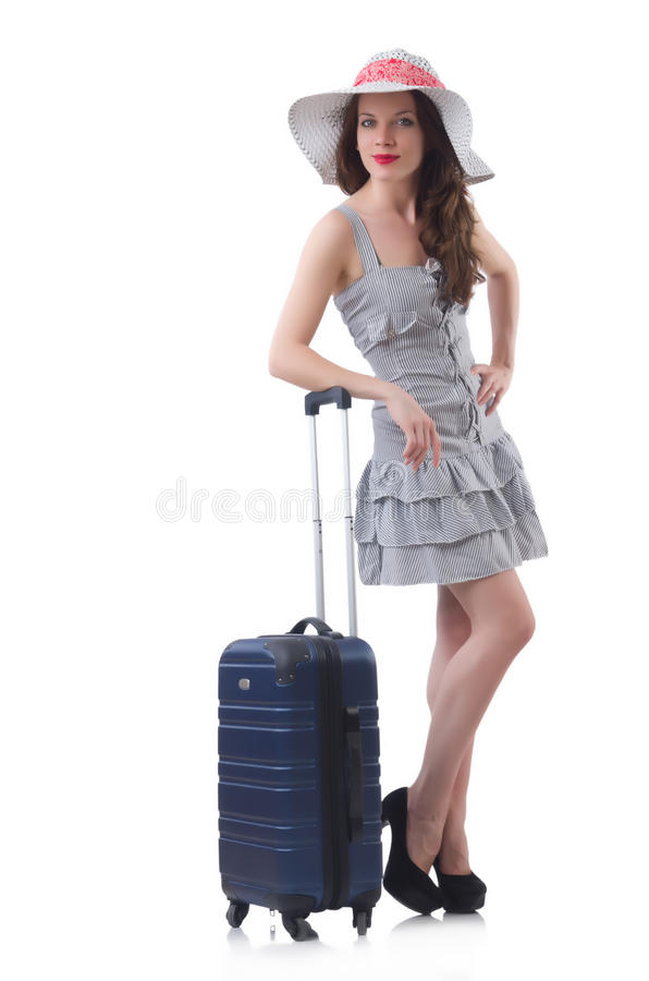 Download Young woman stock photo. Image of baggage, summer, casual - 33223756
